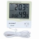 Digital IN-OUT Thermo Hygrometer (with Clock)