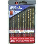 Hexagonal Shank, HSS Titanium Steel Drill Blade Set (10-Piece Set)