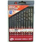 Hexagonal Shank Cobalt HSS Steel Drill Blade Set (10-Piece Set) (CUSTOM KOBO)