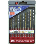 Hexagonal Shank Combination Drill Blade Set (10-Piece Set) (CUSTOM KOBO)