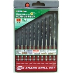 Hexagonal Shank Drill Bit Set for Woodworking (10-Piece Set)