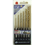 HSS Steel Titanium Coated Drill Bit Set (6 Piece Set) (CUSTOM KOBO)
