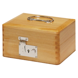 Small Wooden Seal Box (with Lock)