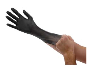 Nitrile Gloves, 6 Mil, 9.5 in Length, Powder Free, Available in Black or Orange, Sizes M-2XL