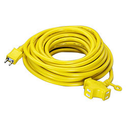 3 Plug-Socket Extension Cord