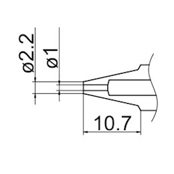 1.0mm Replacement Nozzle for EA323HD EA323HD-3