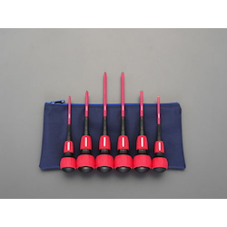 [6 Pcs] Power Grip Insulated Screwdriver EA557AR-600