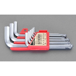 L-Shape Ball End Hex Key Set with Double-Layer Holder - 8 Piece Set, 1.5mm to 8mm (ESCO)