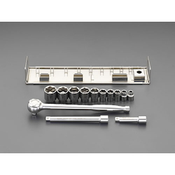 "(3/8"") Socket Wrench Set [Stainless Steel] EA618J-20"