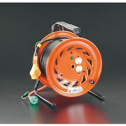 Plug-Socket Withdrawal and Plug Socket Panel Fixed Type Cord Reel (with Earthling) EA815DP-1