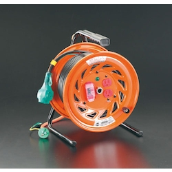Plug-Socket Withdrawal and Plug Socket Panel Fixed Type Cord Reel (with Earth Leakage Breaker) EA815DP-3