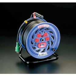 [Big Size Cable] Cord Reel with over Load Earth Leakage Breaker EA815DT-3