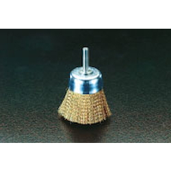 Cup Type Brass Brush with Shaft (6mm Shaft) EA819BR-22