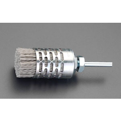[With Abrasive Grain] Nylon Brush with Shaft (6mm Shaft) EA819BY-19