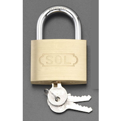 Cylinder Padlock (Common Key) [Stainless Steel Hanger] EA983TC-155