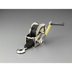 [Stainless Steel] Hand Winch(With Strap/Hook) EA989RB-2A