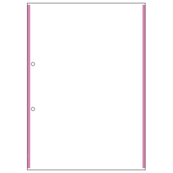 Multi Printer Slips A4 Carbonless 2 Holes Pink Line