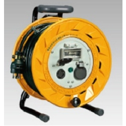 BL-302ML Breaker Reel (3-Phase 200 V), 30 m, Locking-Type, Earthed with Overload Leakage Circuit Breaker