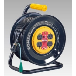 KB-30 Outlet Reel, Model with Fixed Power Outlet Board, 30 m, Specialized Ground Fault Protection, and Temperature Sensor
