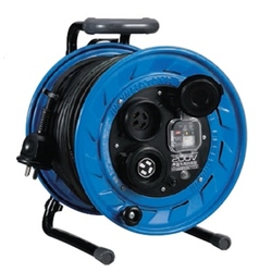 BFS-332KL Single-Phase 200 V Outdoor Reel (200 V for Outdoor Use), 30 m, Locking-Type with Overload Leakage Circuit Breaker