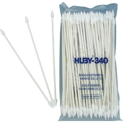 Industrial Cotton Swabs Pointed Cone Type 5.0 mm/Paper Shaft 1 Box 100 Count