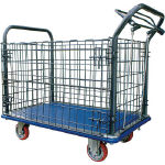 Press Made Cart, Comes with Wire Mesh Hand Brake
