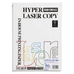 Hyper Laser Copy Paper A4 Natural White Basis Weight: 160 g/m² Duodecimo Conversion: 137.6 kg 50 Sheets