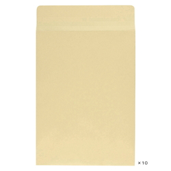 Craft Envelope with Square Bottom Gusset, 240 x 332 mm, 10 Pieces