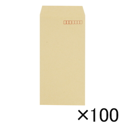 Craft Envelope, 70 g, Side Pasting, 120 x 235 mm with Border, 100 Pieces