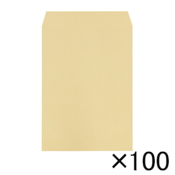 Craft Envelope, 85 g, Side Pasting, 240 x 332 mm, 100 Pieces