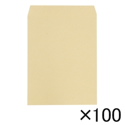 Craft Envelope, 85 g, Side Pasting, 216 x 277 mm, 100 Pieces