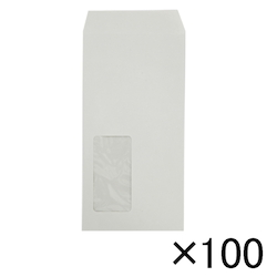 Envelope with Window 80 g, 120 x 235 mm, Gray, 100 pcs