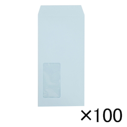 Envelope with Window 80 g, 120 x 235 mm, Blue, 100 pcs
