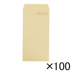 Single Action Craft Envelope, 70 g, Side Pasting, 120 x 235 mm with Border, 100 Pieces