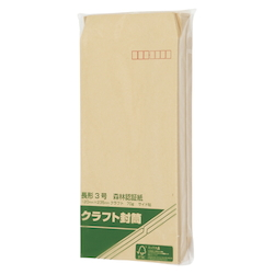 Forestry Certified Paper Envelopes, 70 g 120 x 235 mm with Border 100 Sheets
