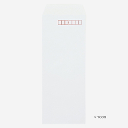Special White Kent 90 x 225 mm Envelopes 80 g with Zip Code Frame 1,000 Pieces