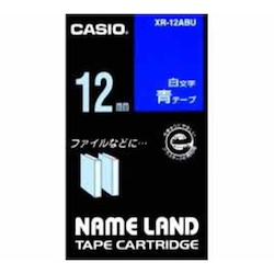 Name Land Tape 12 mm White Text Blue