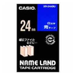 Name Land Tape 24 mm White Text Blue