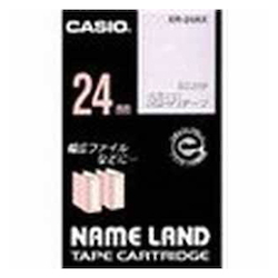 Name Land Tape 24 mm White Text Transparent