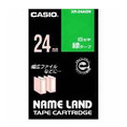 Name Land Tape 24 mm White Text Green