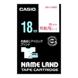 Name Land Tape Cloth Transfer Red Text