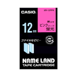 Name Land Tape 12 mm Fluorescent Pink