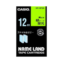 Name Land Tape 12 mm Fluorescent Green