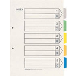 Color Index A4 Vertical Type 2 Holes