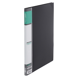U GREEN Clear File, Reasonable A4 10P, Black