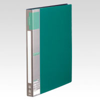 u green Clear File A4, A4 Size Vertical Type (10 Pockets) Green