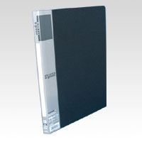 u green Clear File A4, A4 Size Vertical Type (20 Pockets) Black