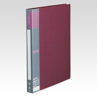 u green Clear File A4, A4 Size Vertical Type (40 Pockets) Red