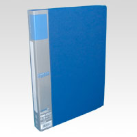 u green Clear File A4, A4 Size Vertical Type (60 Pockets) Blue