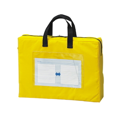 Mail Bag, Gusseted W Fastener, Yellow Standard: A4 Size with Gore, Outer Dimension: Height 270 x Width 360 x Depth 80 mm